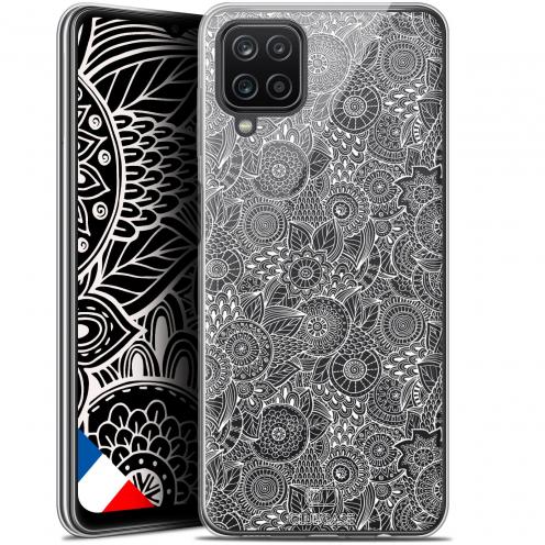 "Coque Gel Samsung Galaxy A12 (6.5"") Dentelle Florale - Blanc"
