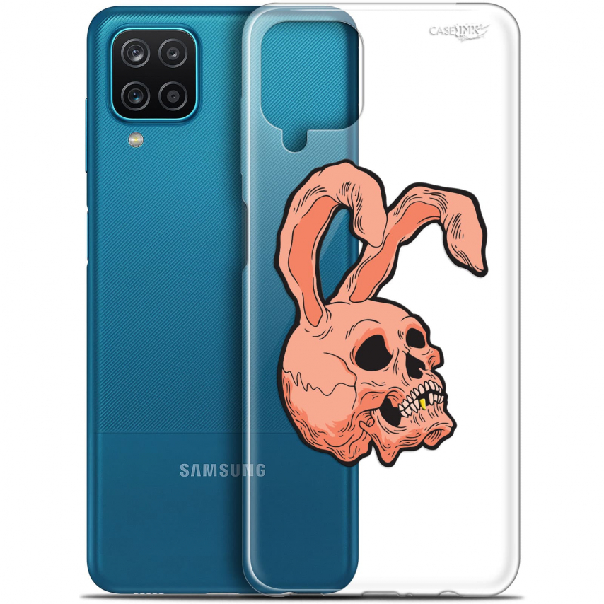 "Coque Gel Samsung Galaxy A12 (6.5"") Motif - Rabbit Skull"