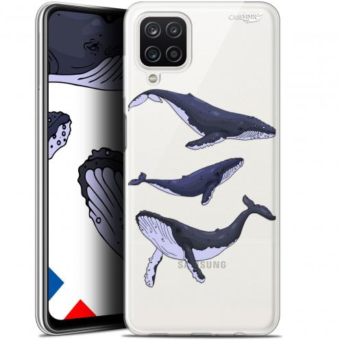 "Coque Gel Samsung Galaxy A12 (6.5"") Motif - Les 3 Baleines"