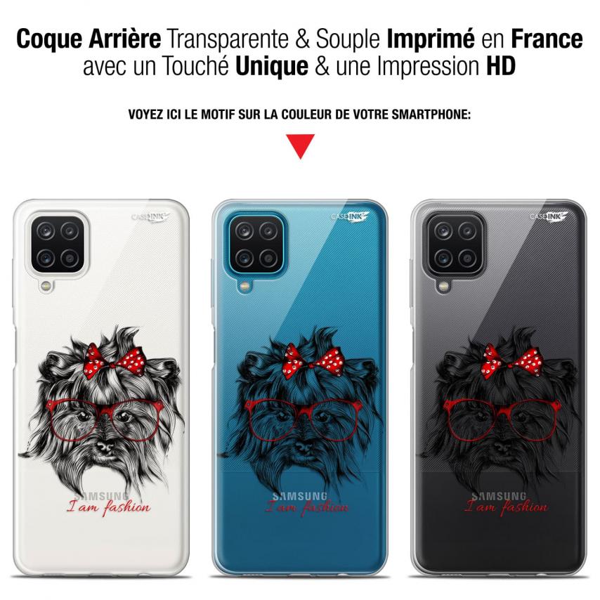 """Coque Gel Samsung Galaxy A12 (6.5"""") Motif - Fashion Dog"""