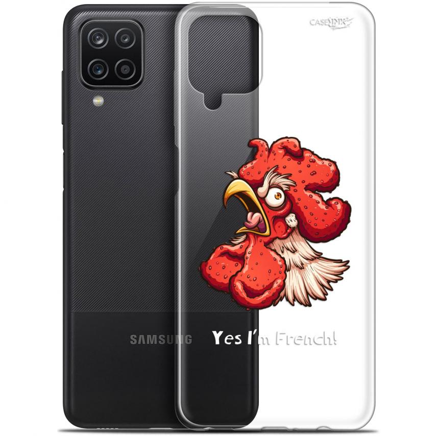 """Coque Gel Samsung Galaxy A12 (6.5"""") Motif - I'm French Coq"""