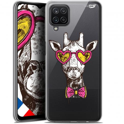 """Coque Gel Samsung Galaxy A12 (6.5"""") Motif - Hipster Giraffe"""