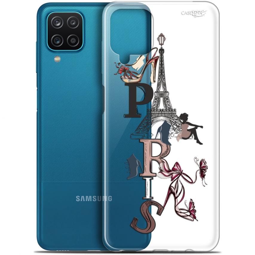 """Coque Gel Samsung Galaxy A12 (6.5"""") Motif - Stylish Paris"""