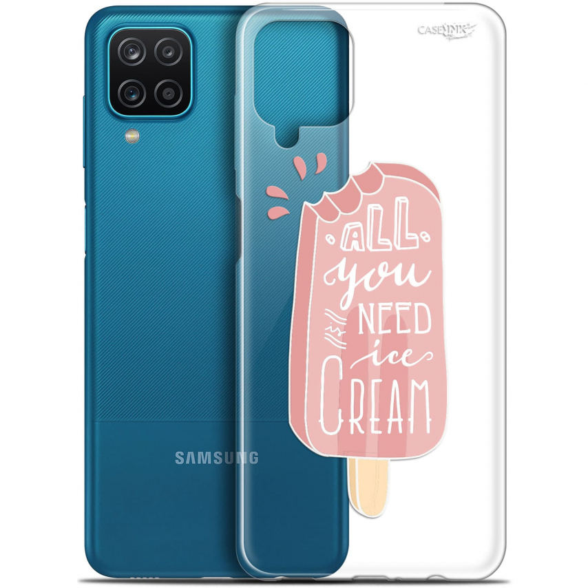 "Coque Gel Samsung Galaxy A12 (6.5"") Motif - Ice Cream"