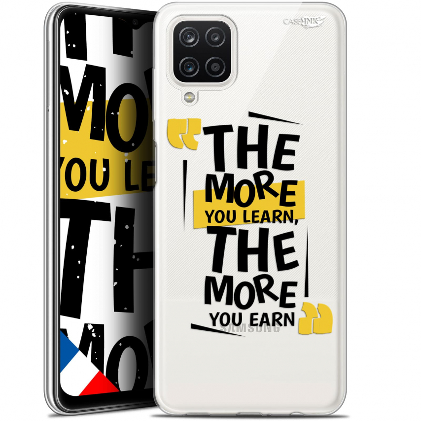 """Coque Gel Samsung Galaxy A12 (6.5"""") Motif - The More You Learn"""