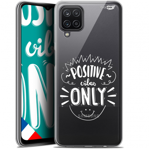 """Coque Gel Samsung Galaxy A12 (6.5"""") Motif - Positive Vibes Only"""