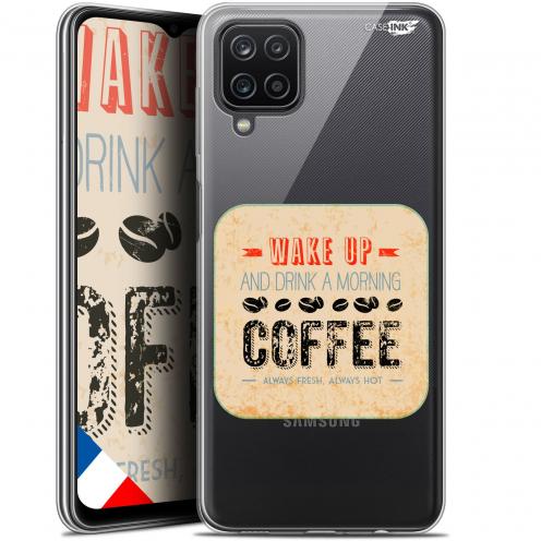 "Coque Gel Samsung Galaxy A12 (6.5"") Motif - Wake Up With Coffee"
