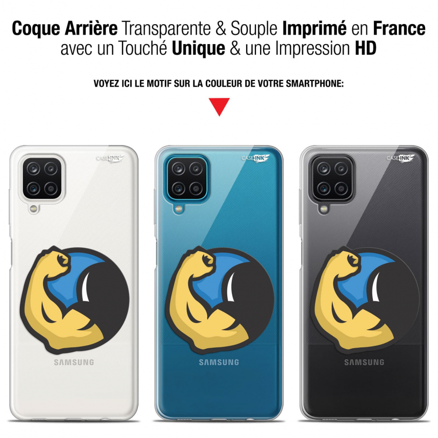 "Coque Gel Samsung Galaxy A12 (6.5"") Motif - Monsieur Muscle"