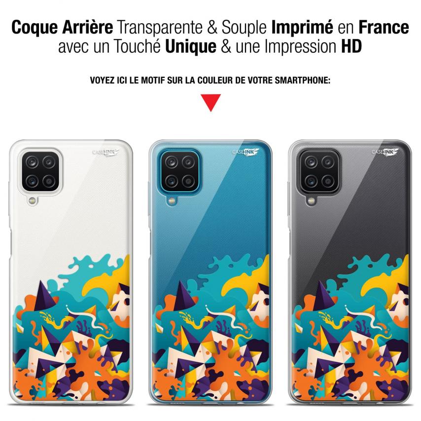 """Coque Gel Samsung Galaxy A12 (6.5"""") Motif - Les Vagues"""