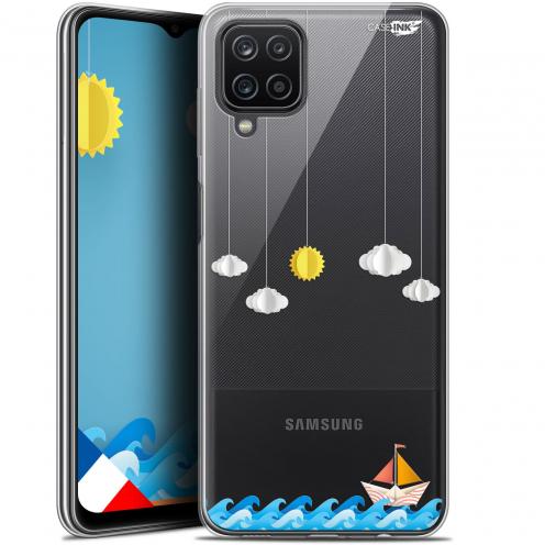 "Coque Gel Samsung Galaxy A12 (6.5"") Motif - Petit Bateau en Mer"