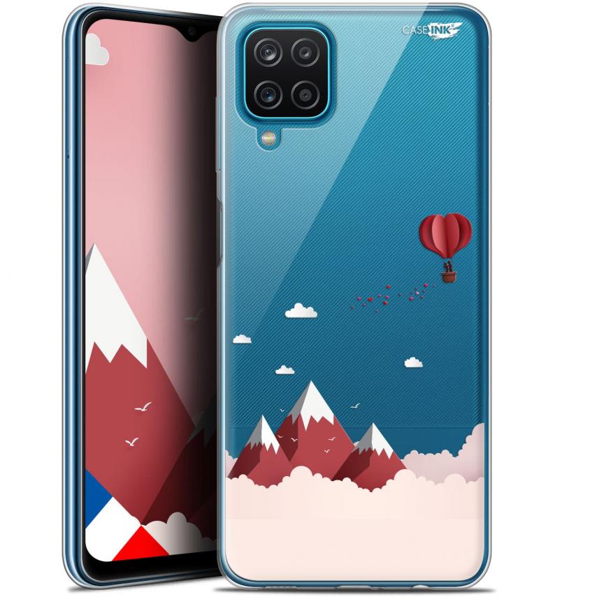 """Coque Gel Samsung Galaxy A12 (6.5"""") Motif - Montagne En Montgolfière"""