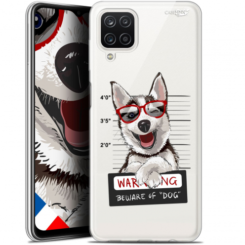 "Coque Gel Samsung Galaxy A12 (6.5"") Motif - Beware The Husky Dog"