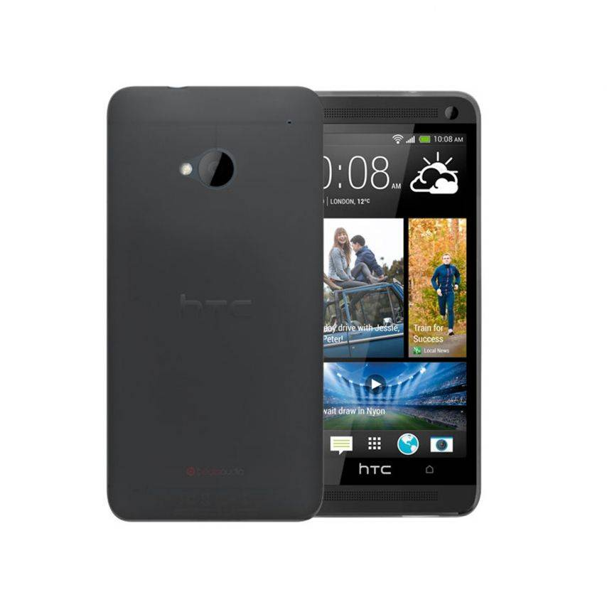 Photo réelle de Coque Ultra Fine 0.3mm Frost HTC One Noire