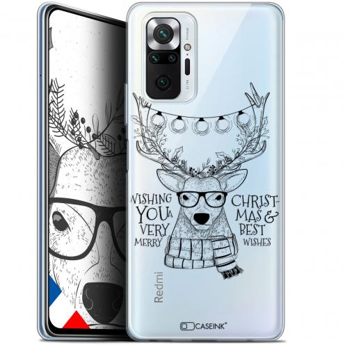 """Coque Gel Xiaomi Redmi Note 10 PRO (6.7"""") Noël - Cerf Hipster"""