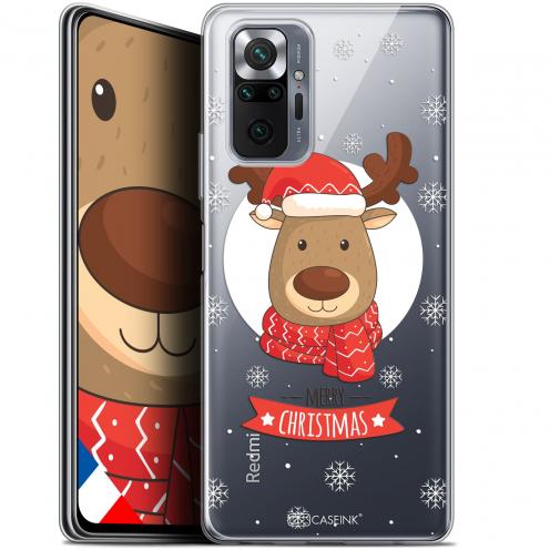 """Coque Gel Xiaomi Redmi Note 10 PRO (6.7"""") Noël - Cerf à Echarpe"""