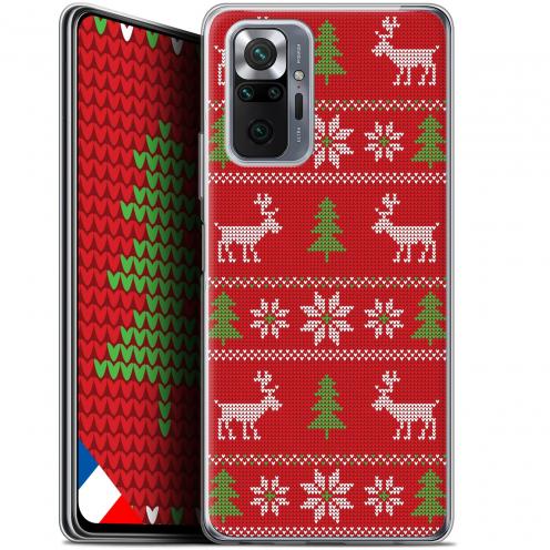 """Coque Gel Xiaomi Redmi Note 10 PRO (6.7"""") Noël - Couture Rouge"""