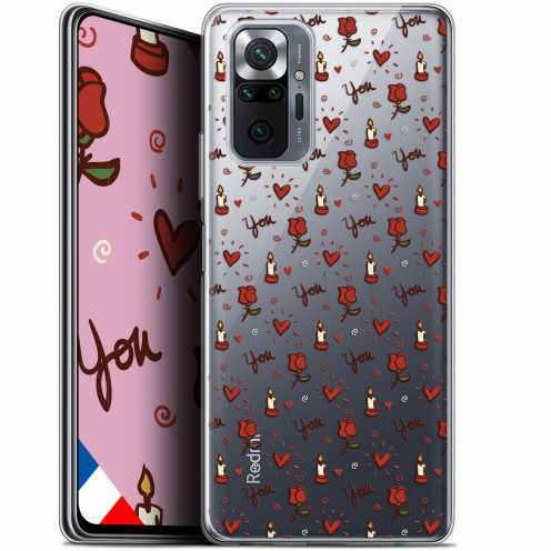 "Coque Gel Xiaomi Redmi Note 10 PRO (6.7"") Love - Bougies et Roses"
