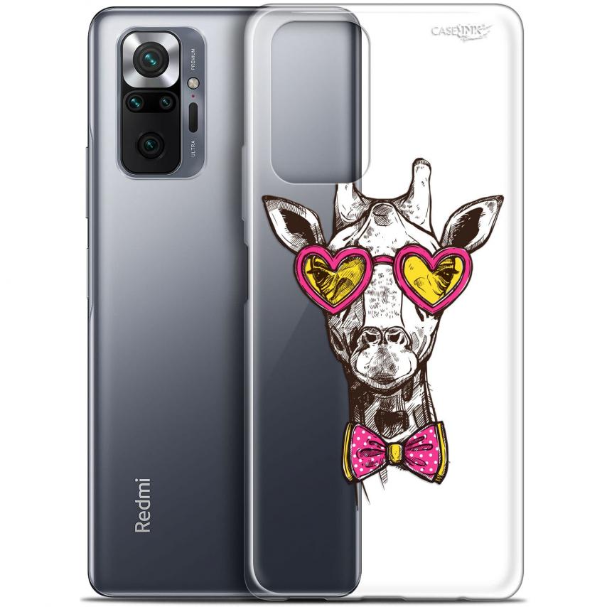 "Coque Gel Xiaomi Redmi Note 10 PRO (6.7"") Motif - Hipster Giraffe"