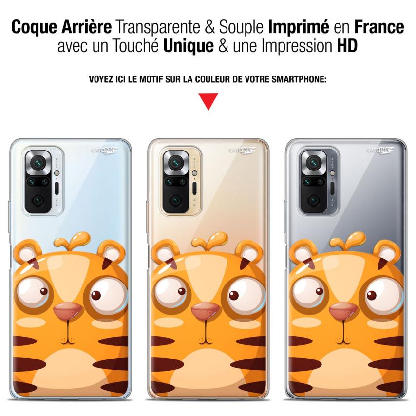 """Coque Gel Xiaomi Redmi Note 10 PRO (6.7"""") Motif - Cartoon Tiger"""