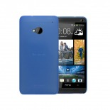 Photo réelle de Coque Ultra Fine 0.3mm Frost HTC One Bleue