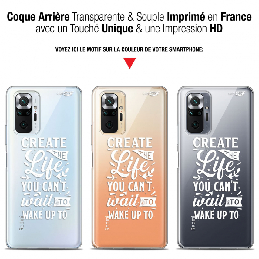 "Coque Gel Xiaomi Redmi Note 10 PRO (6.7"") Motif - Wake Up Your Life"
