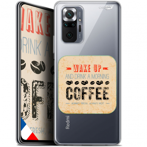 "Coque Gel Xiaomi Redmi Note 10 PRO (6.7"") Motif - Wake Up With Coffee"