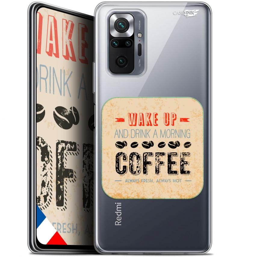 "Coque Gel Xiaomi Redmi Note 10 PRO (6.7"") Motif - Wake Up With Coffee"