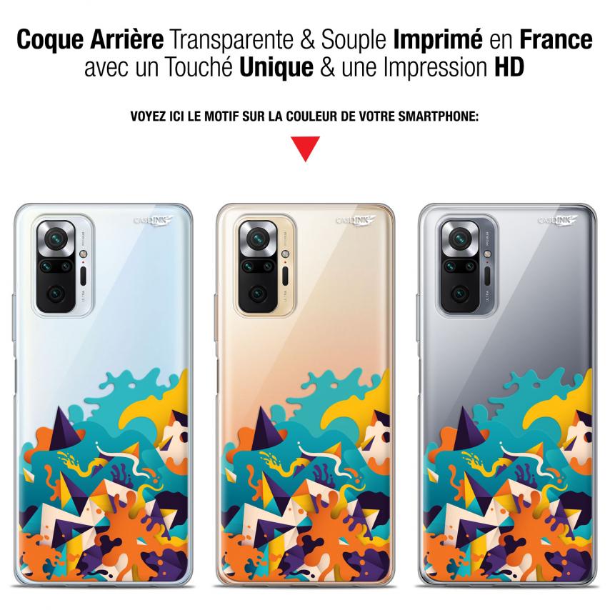 """Coque Gel Xiaomi Redmi Note 10 PRO (6.7"""") Motif - Les Vagues"""