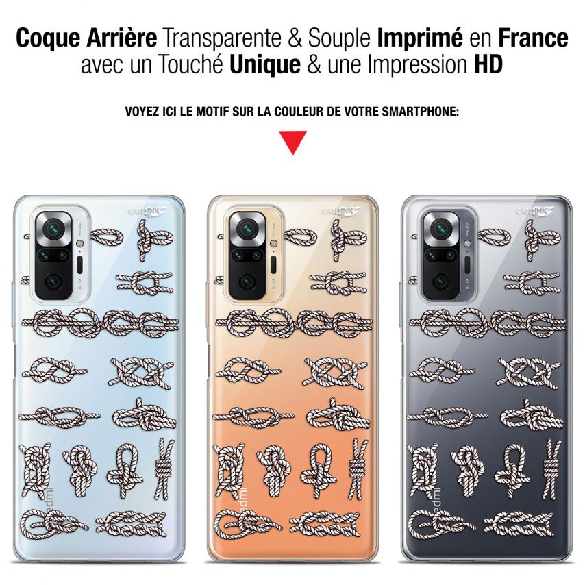 """Coque Gel Xiaomi Redmi Note 10 PRO (6.7"""") Motif - Les Noeux"""