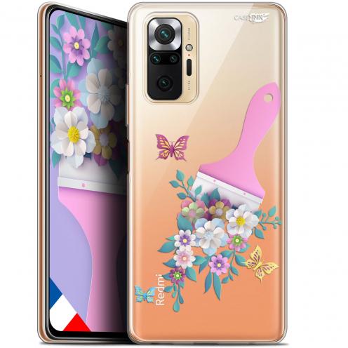 """Coque Gel Xiaomi Redmi Note 10 PRO (6.7"""") Motif - Pinceau à Fleurs"""