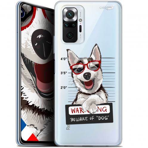"Coque Gel Xiaomi Redmi Note 10 PRO (6.7"") Motif - Beware The Husky Dog"