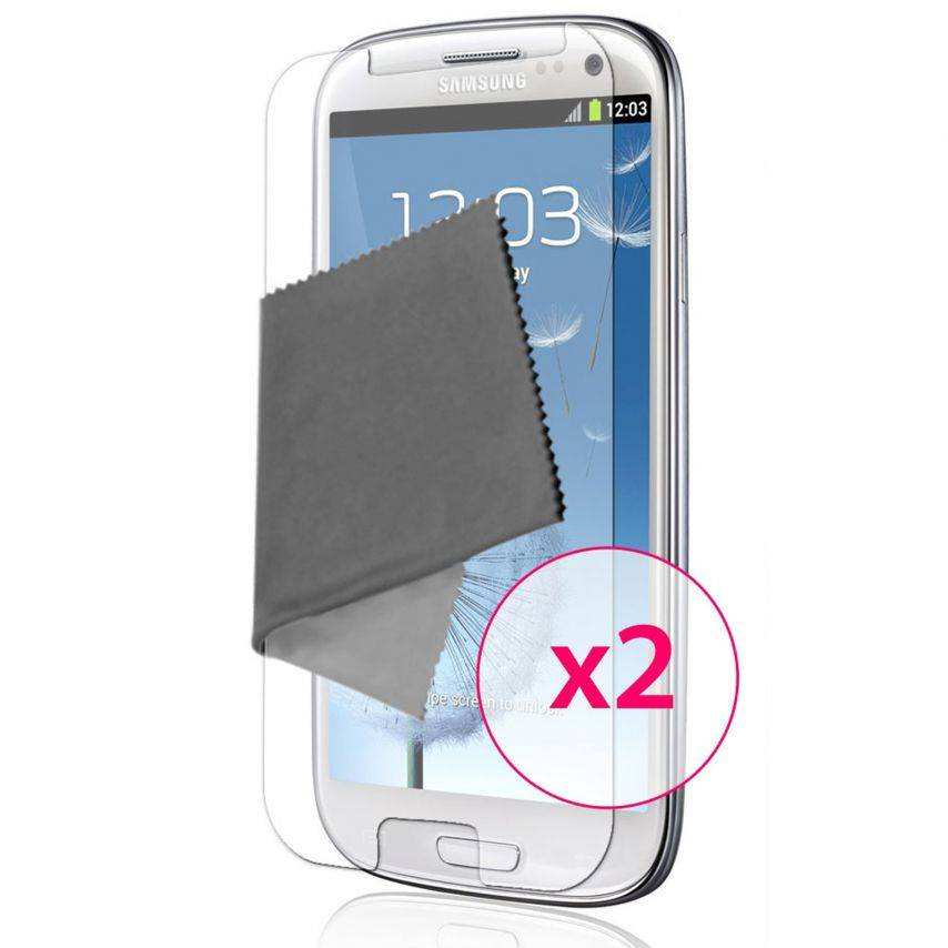 Zoom sur Films de protection Samsung Galaxy S3 Clubcase ® HD Lot de 2