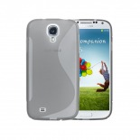 Photo réelle de Coque Samsung Galaxy S4 Tpu Basics SLine Transparente