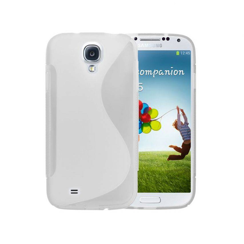Photo réelle de Coque Samsung Galaxy S4 Tpu Basics SLine Blanche