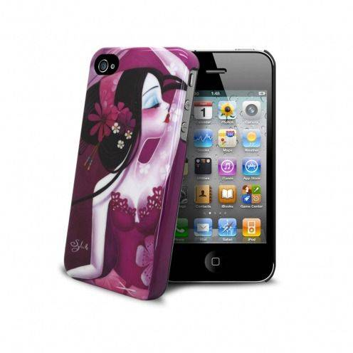 "Coque Muvit® Art Collection By Sybile ""Folie d'éventails"" iPhone 4S/4"