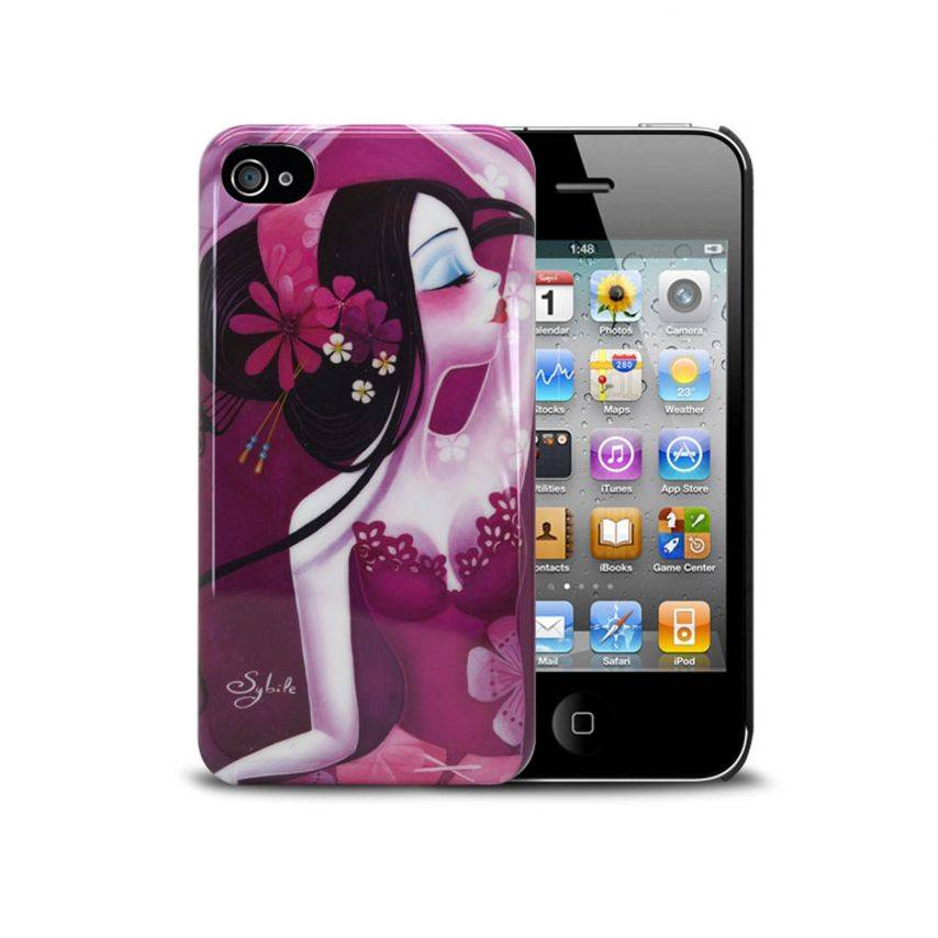 "Visuel supplémentaire de Coque Muvit® Art Collection By Sybile ""Folie d'éventails"" iPhone 4S/4"