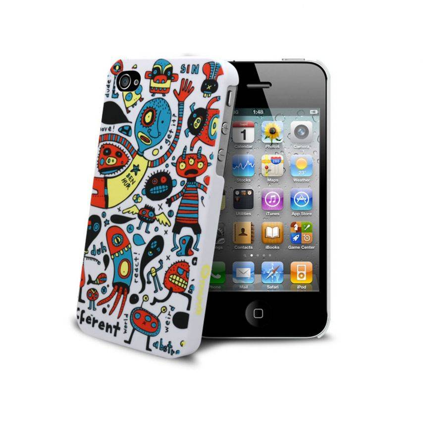 coque muvit doodle monstres iphone 4s 4. Black Bedroom Furniture Sets. Home Design Ideas