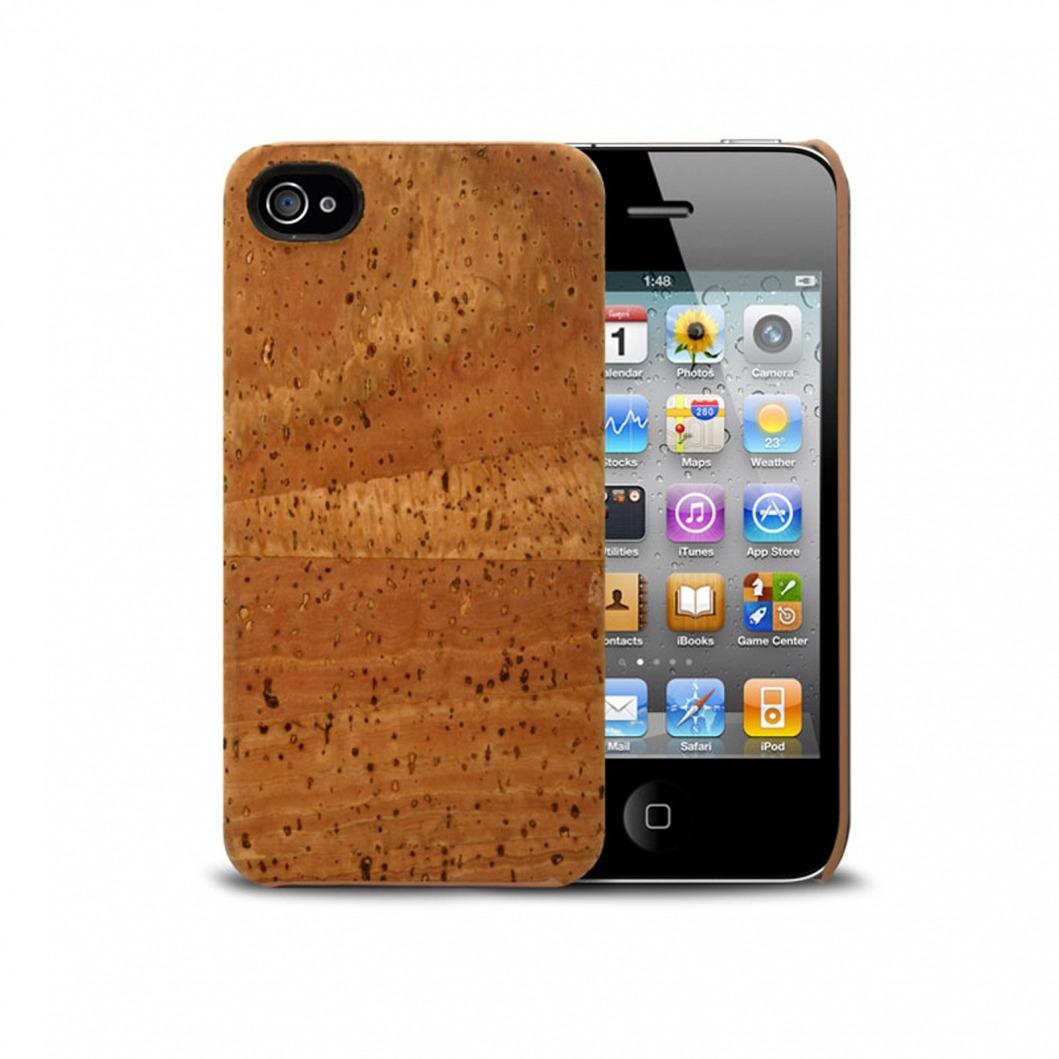 Coque Corkcase® en fibre végétal de liège iPhone 4S/4 | Clubcase.fr
