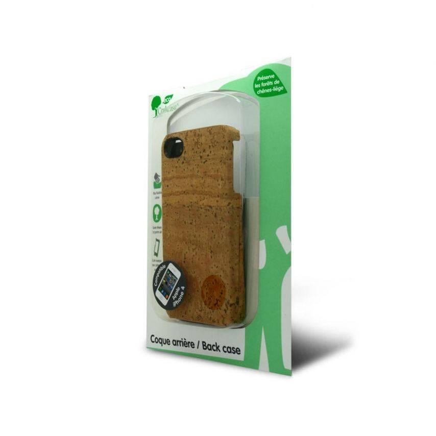 Vue complémentaire de Coque Corkcase® en fibre végétal de liège iPhone 4S/4