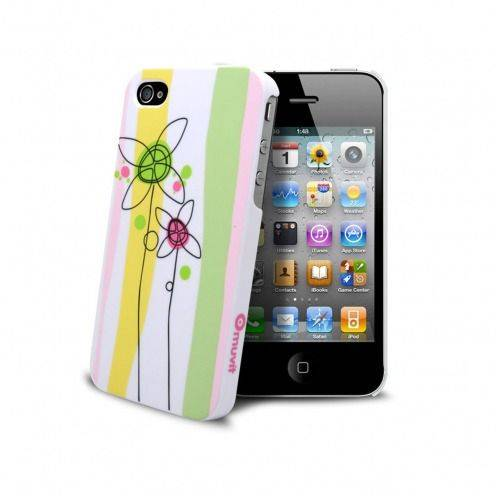 Coque Muvit® Doodle Flowers iPhone 4S/4