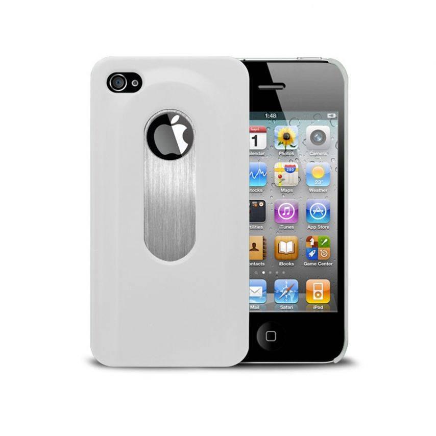 Vue portée de Coque Décapsuleur blanche iPhone 4S/4