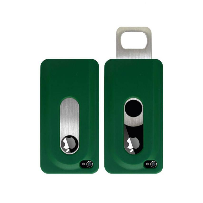 Vue complémentaire de Coque Décapsuleur verte iPhone 4S/4