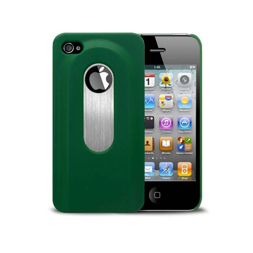 Vue portée de Coque Décapsuleur verte iPhone 4S/4