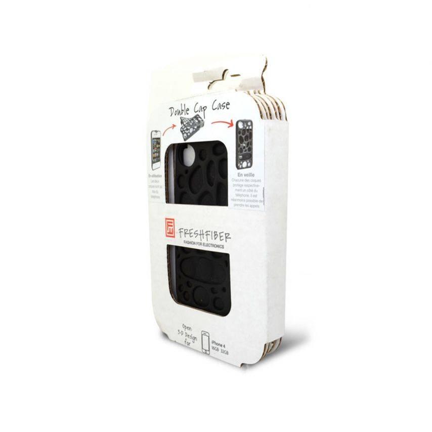 Visuel supplémentaire de Coque Freshfiber® Peeble Double Cap iPhone 4S/4 Noire