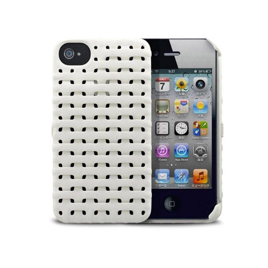 Visuel unique de Coque Freshfiber® Weave iPhone 4S/4 Blanche