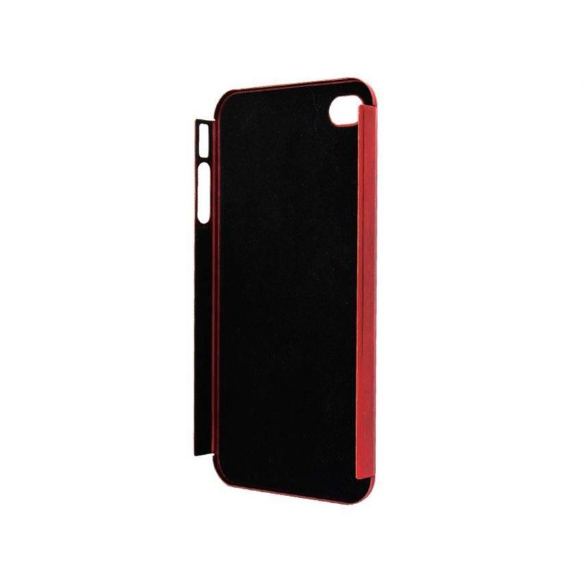 Visuel unique de Coque Ultra-Fine 0,3 mm métal brossé Acero iPhone 4/4S Rouge