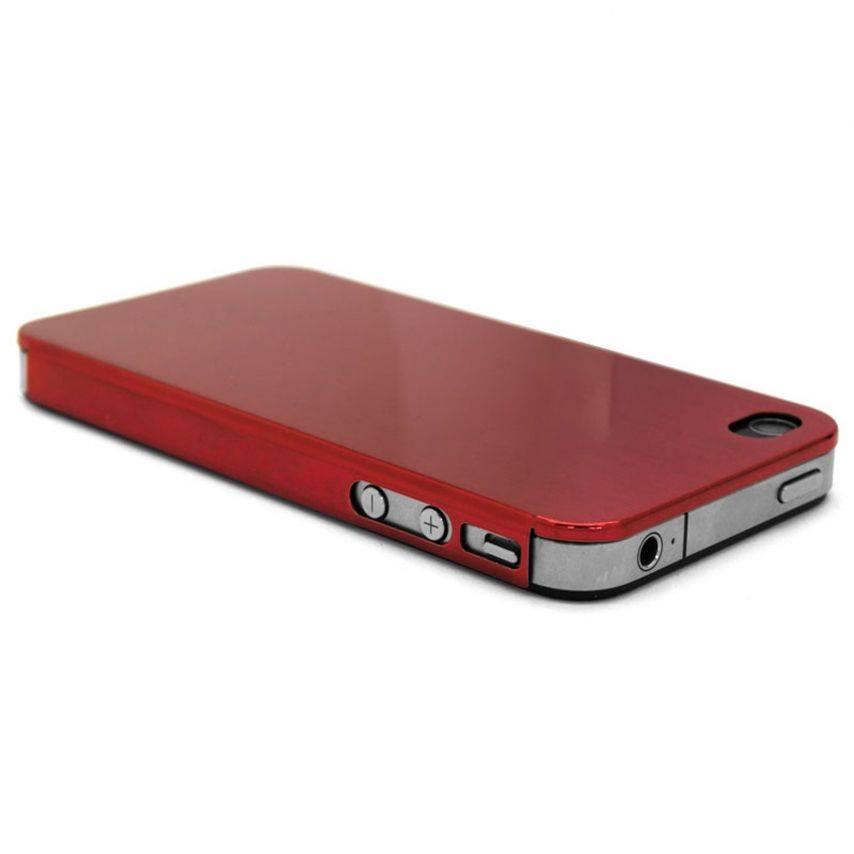 Visuel supplémentaire de Coque Ultra-Fine 0,3 mm métal brossé Acero iPhone 4/4S Rouge
