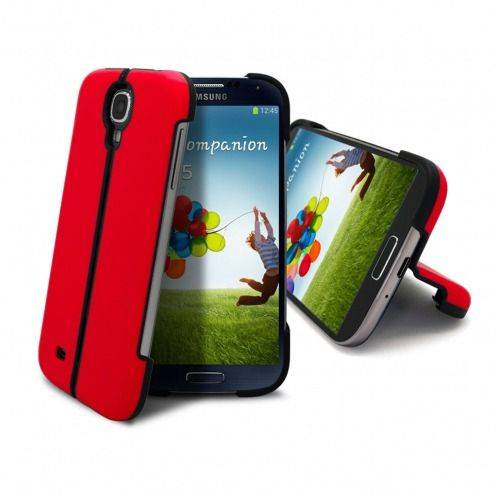 Coque Sport Line Stand Galaxy S4 Rouge
