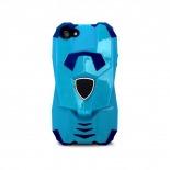 Vue complémentaire de Coque Design Transformer Bi Matière iphone 5 Bleue