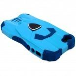 Vue portée de Coque Design Transformer Bi Matière iphone 5 Bleue